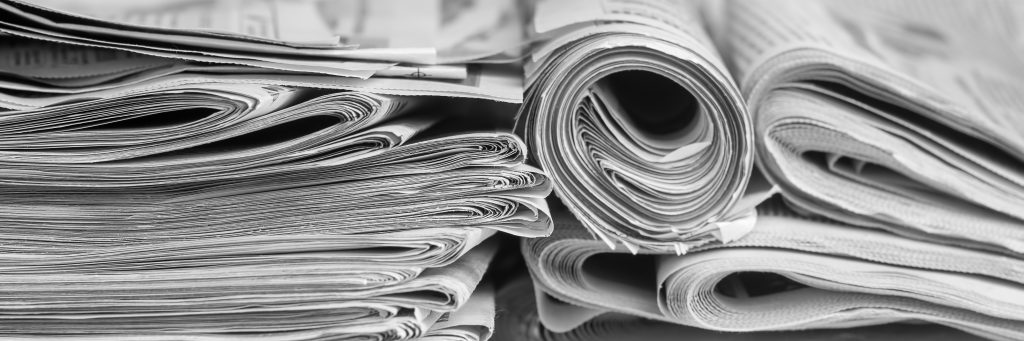 image of a pile of newspapers